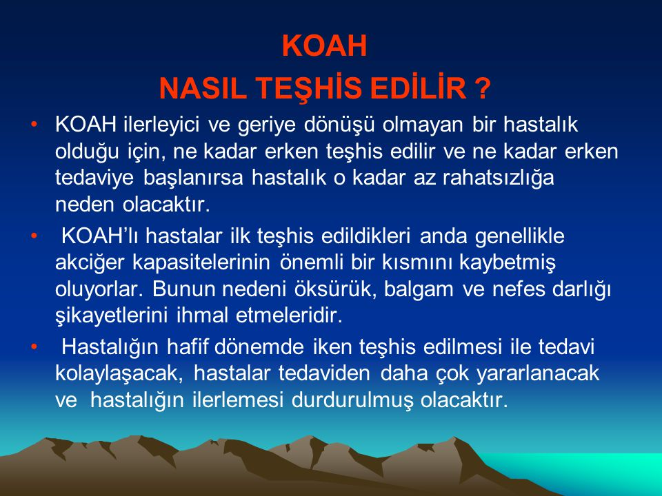 KOAH NASIL TEŞHİS EDİLİR