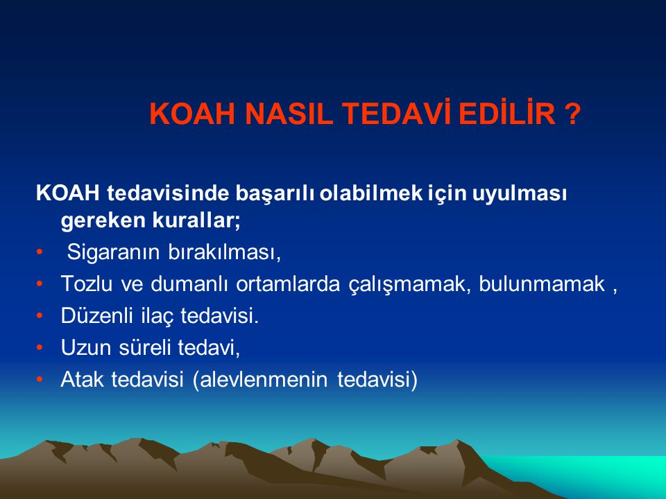 KOAH NASIL TEDAVİ EDİLİR