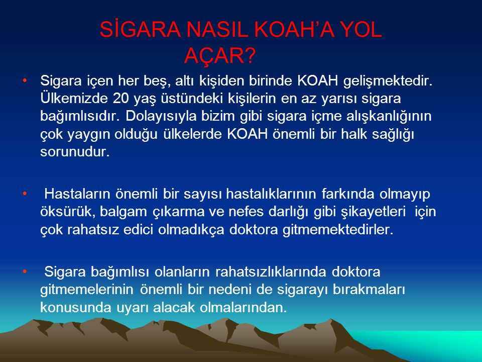SİGARA NASIL KOAH'A YOL AÇAR