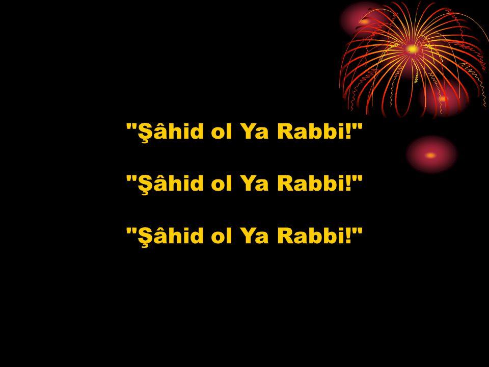 Şâhid ol Ya Rabbi! Şâhid ol Ya Rabbi!