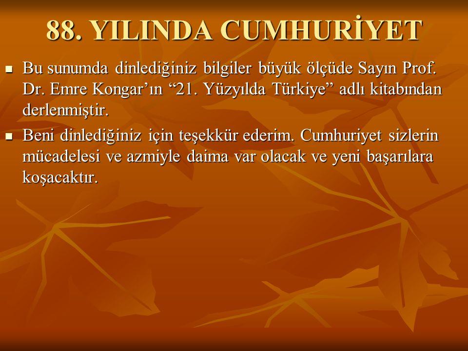 88. YILINDA CUMHURİYET