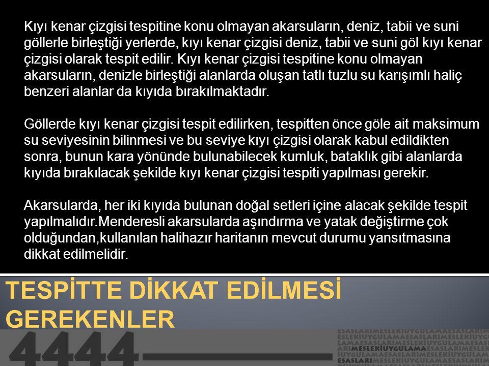 TESPİTTE DİKKAT EDİLMESİ GEREKENLER