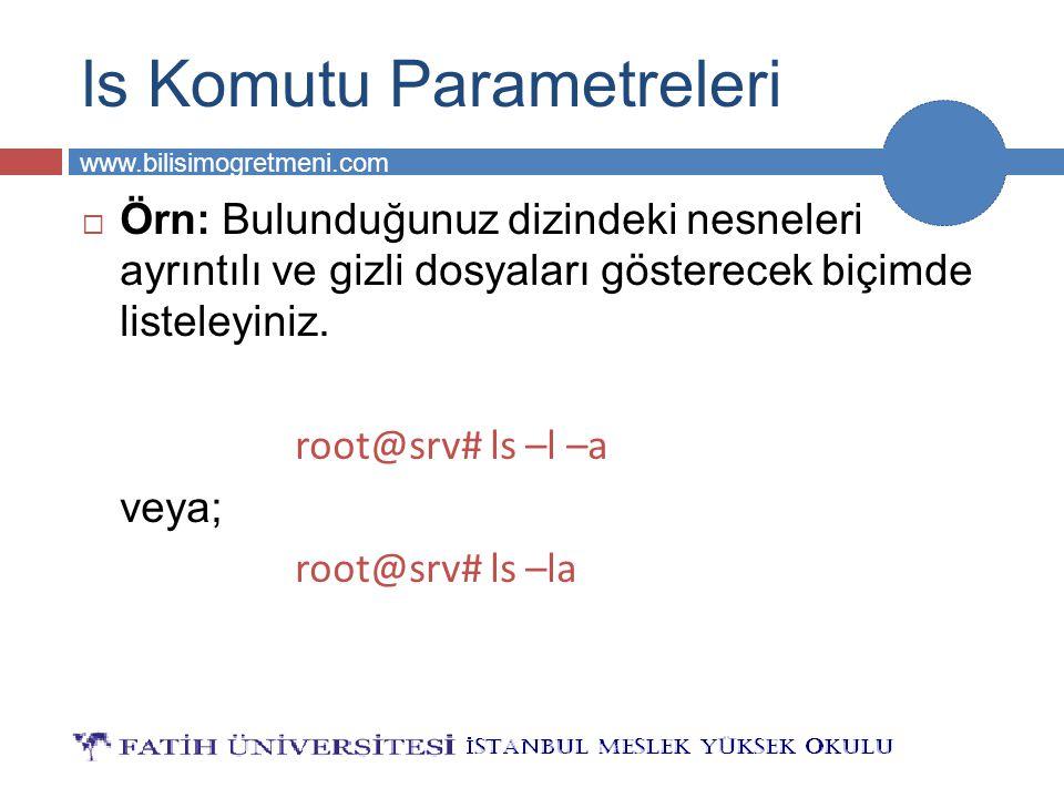 ls Komutu Parametreleri