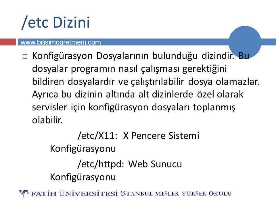/etc Dizini