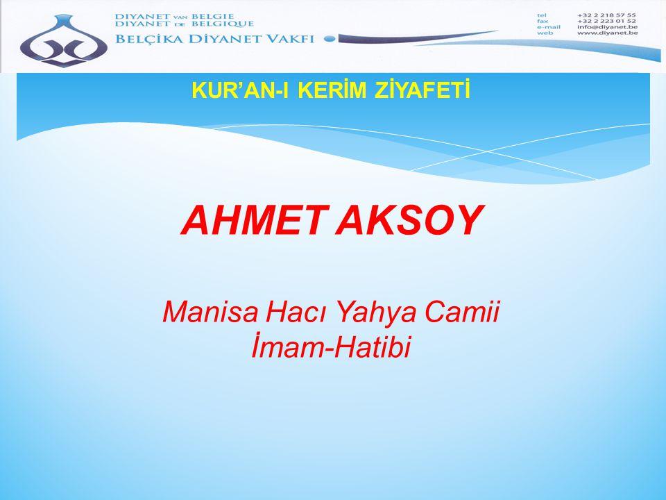 KUR'AN-I KERİM ZİYAFETİ