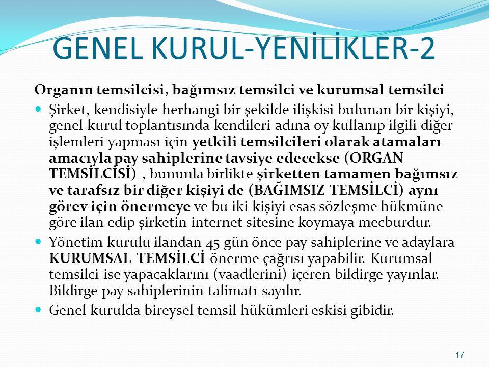 GENEL KURUL-YENİLİKLER-2
