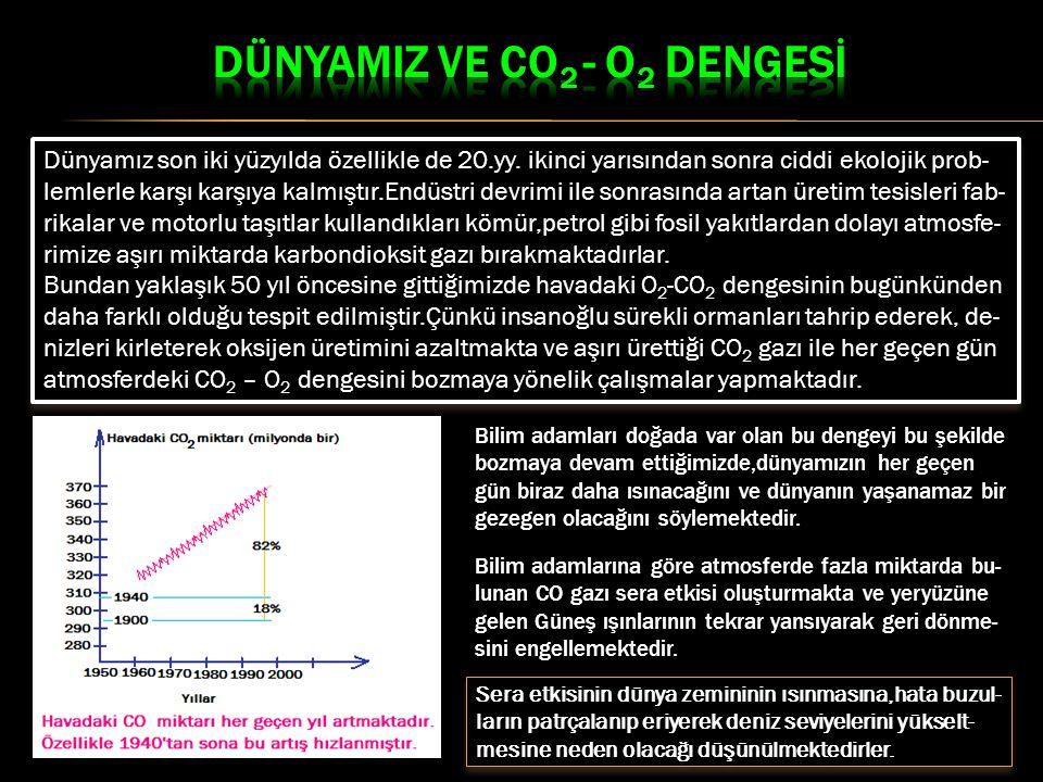 DÜNYAMIZ VE CO2 - O2 DENGESİ