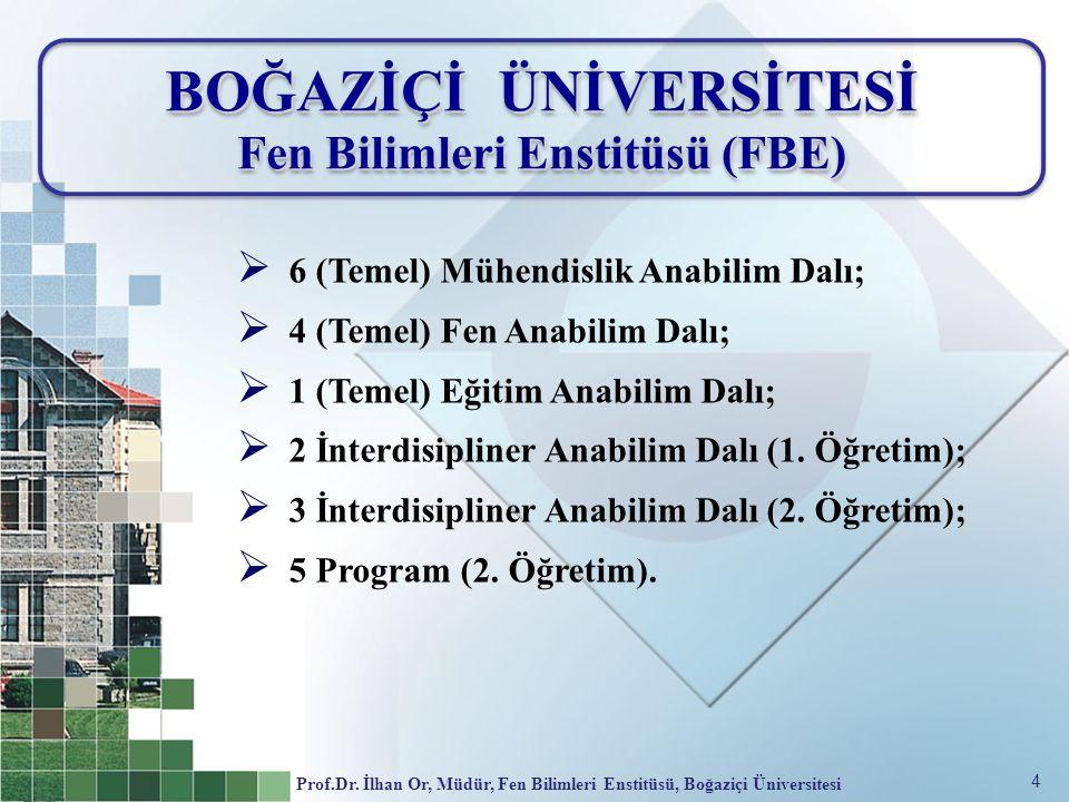 BOĞAZİÇİ ÜNİVERSİTESİ Fen Bilimleri Enstitüsü (FBE)