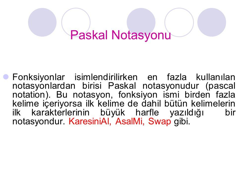 Paskal Notasyonu