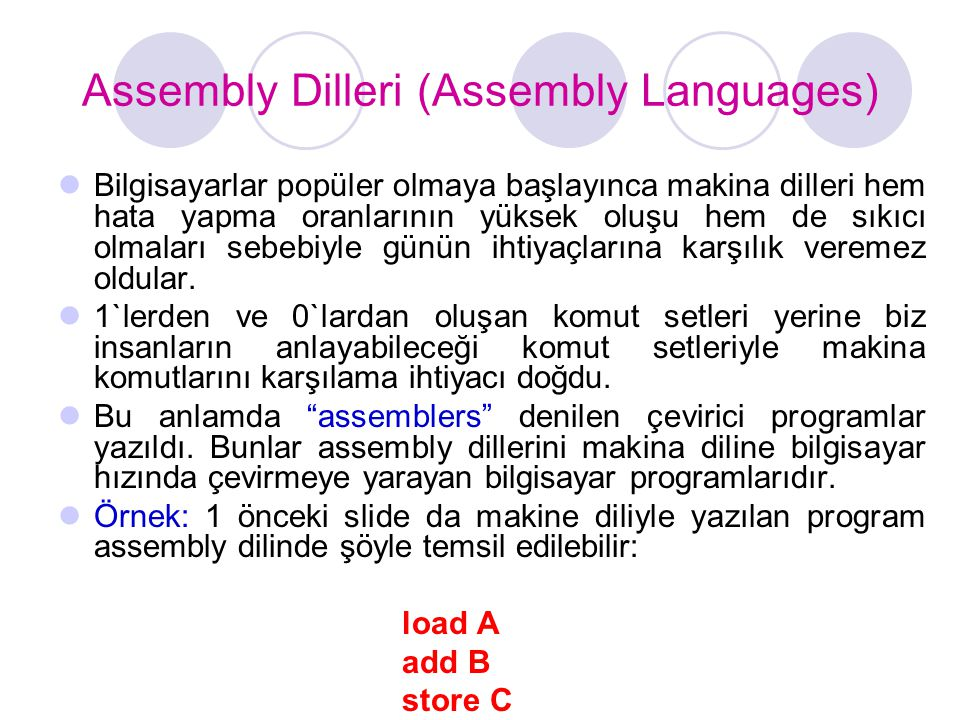 Assembly Dilleri (Assembly Languages)