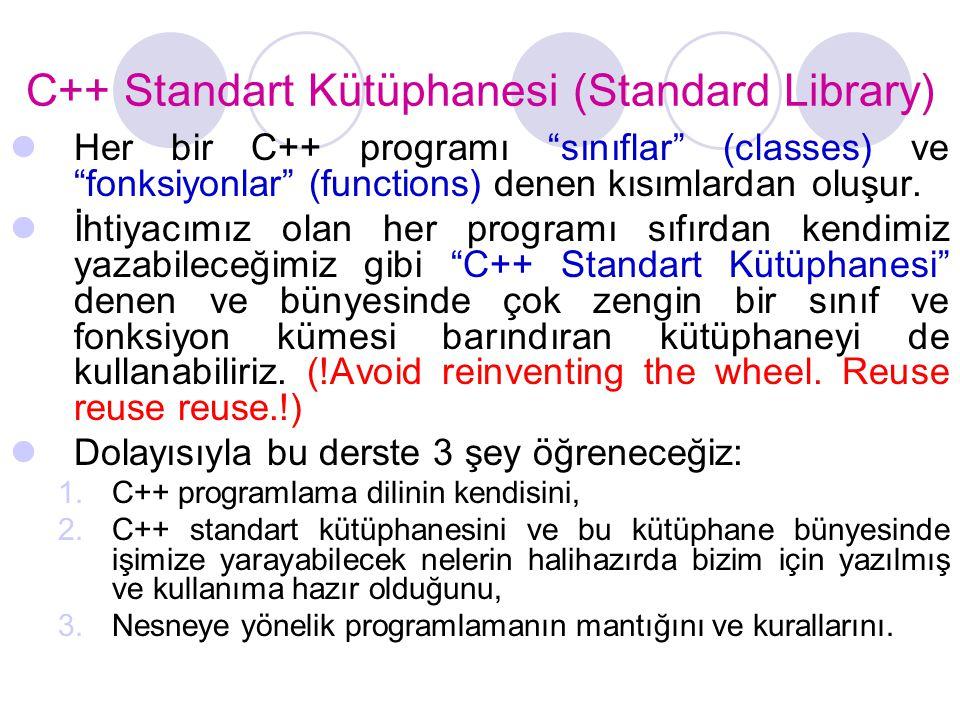 C++ Standart Kütüphanesi (Standard Library)