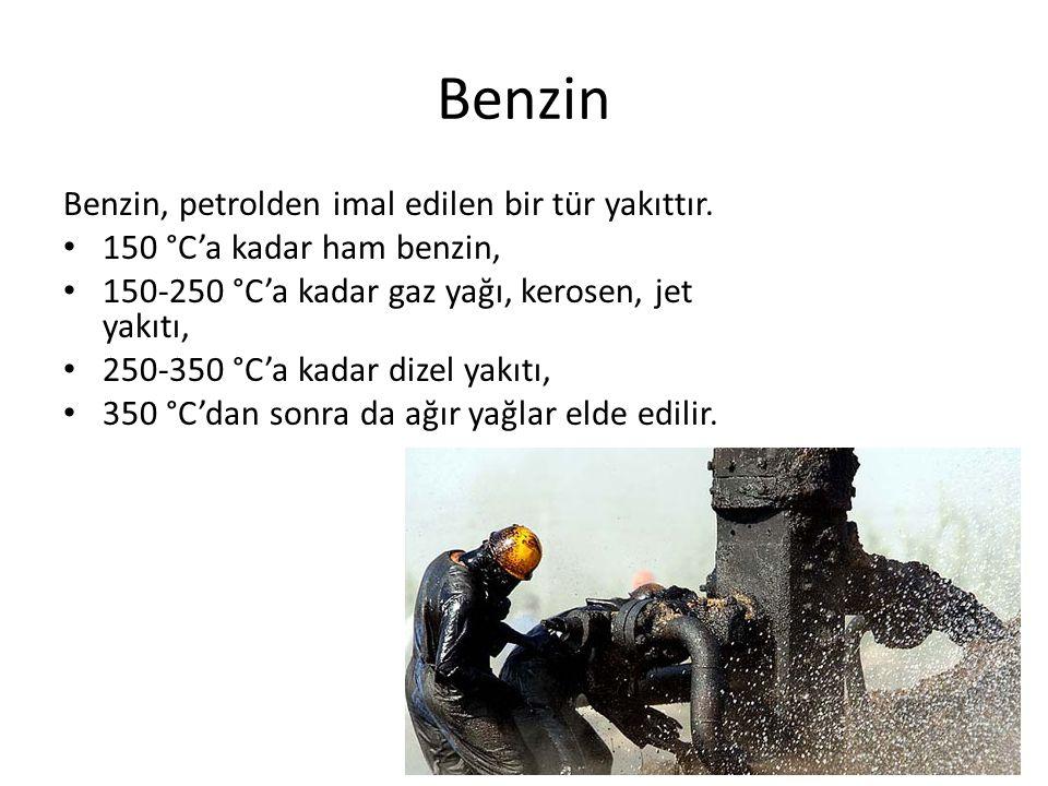 Benzin Benzin, petrolden imal edilen bir tür yakıttır.