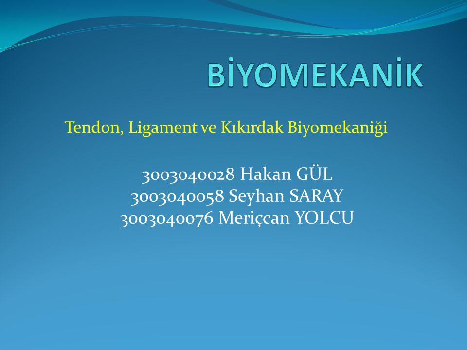 Tendon, Ligament ve Kıkırdak Biyomekaniği