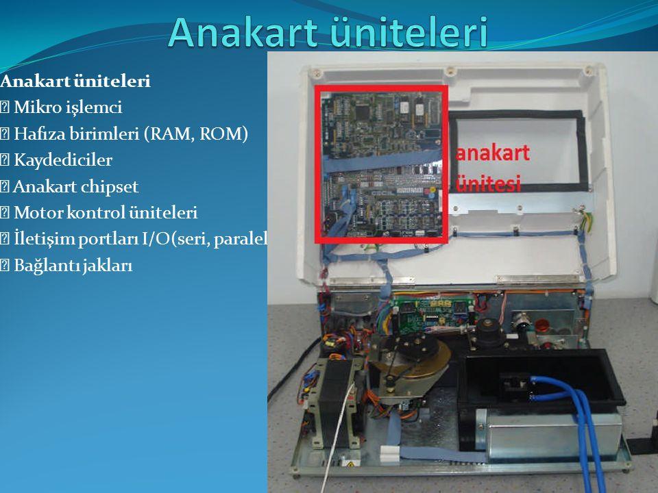 Anakart üniteleri Anakart üniteleri  Mikro işlemci