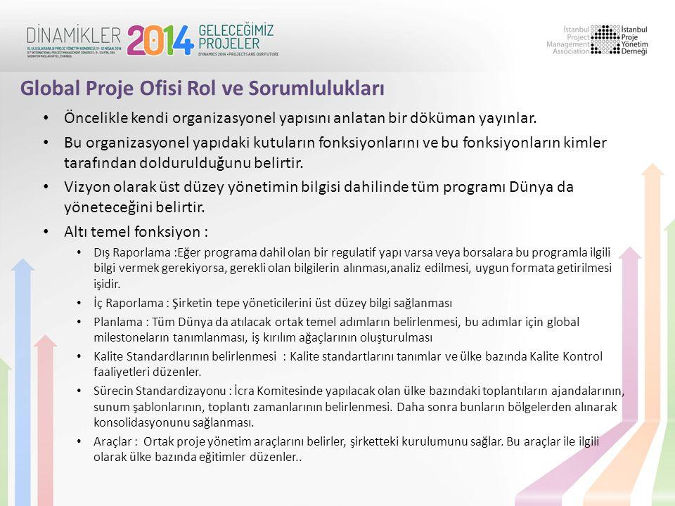 Global Proje Ofisi Rol ve Sorumlulukları