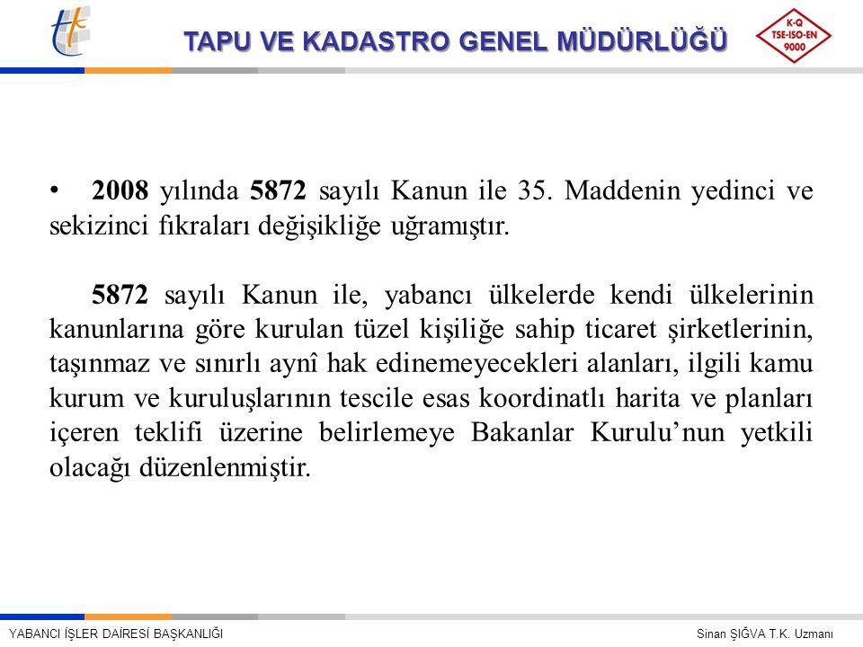 2008 yılında 5872 sayılı Kanun ile 35