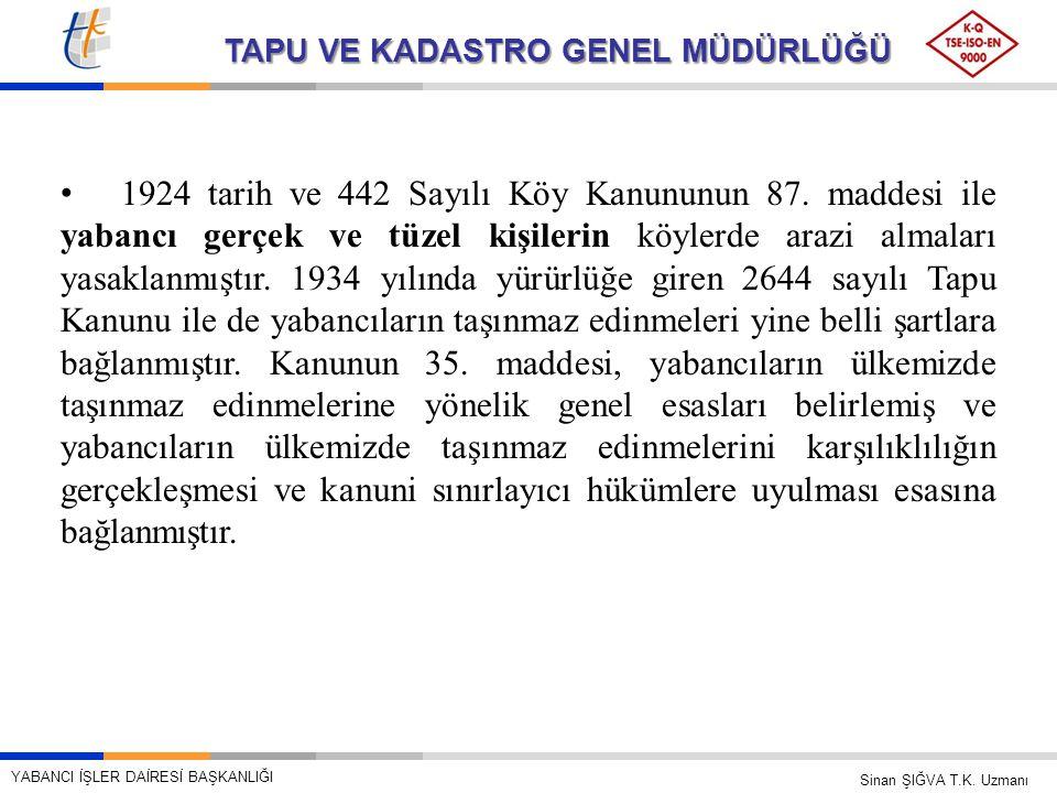 1924 tarih ve 442 Sayılı Köy Kanununun 87