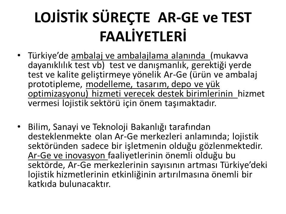 LOJİSTİK SÜREÇTE AR-GE ve TEST FAALİYETLERİ
