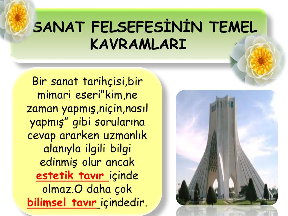 SANAT FELSEFESİNİN TEMEL KAVRAMLARI