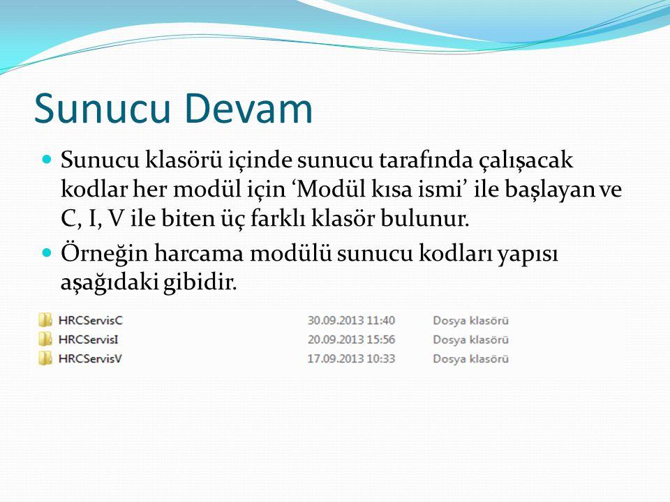Sunucu Devam