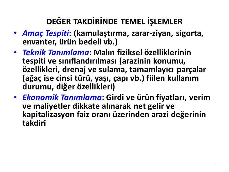 DEĞER TAKDİRİNDE TEMEL İŞLEMLER