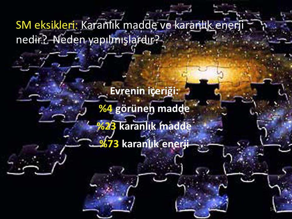 SM eksikleri: Karanlık madde ve karanlık enerji nedir