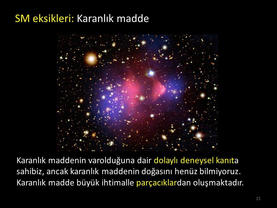 SM eksikleri: Karanlık madde