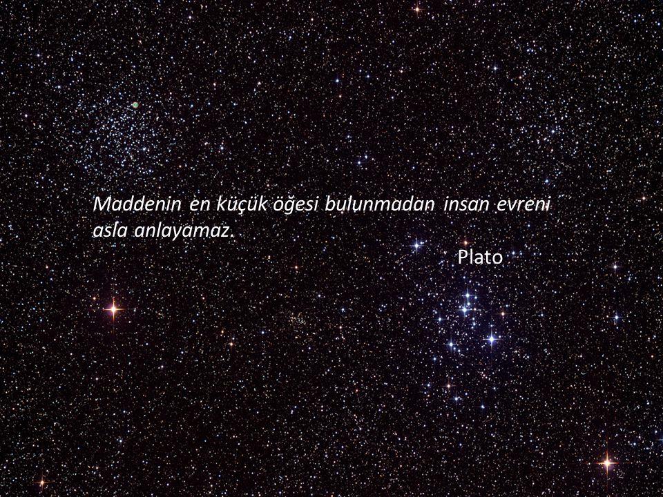 Maddenin en küçük öğesi bulunmadan insan evreni asla anlayamaz.