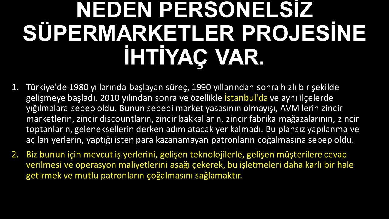 NEDEN PERSONELSİZ SÜPERMARKETLER PROJESİNE İHTİYAÇ VAR.