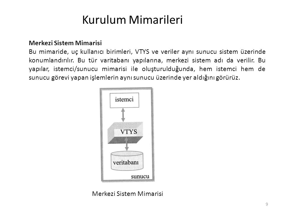 Merkezi Sistem Mimarisi