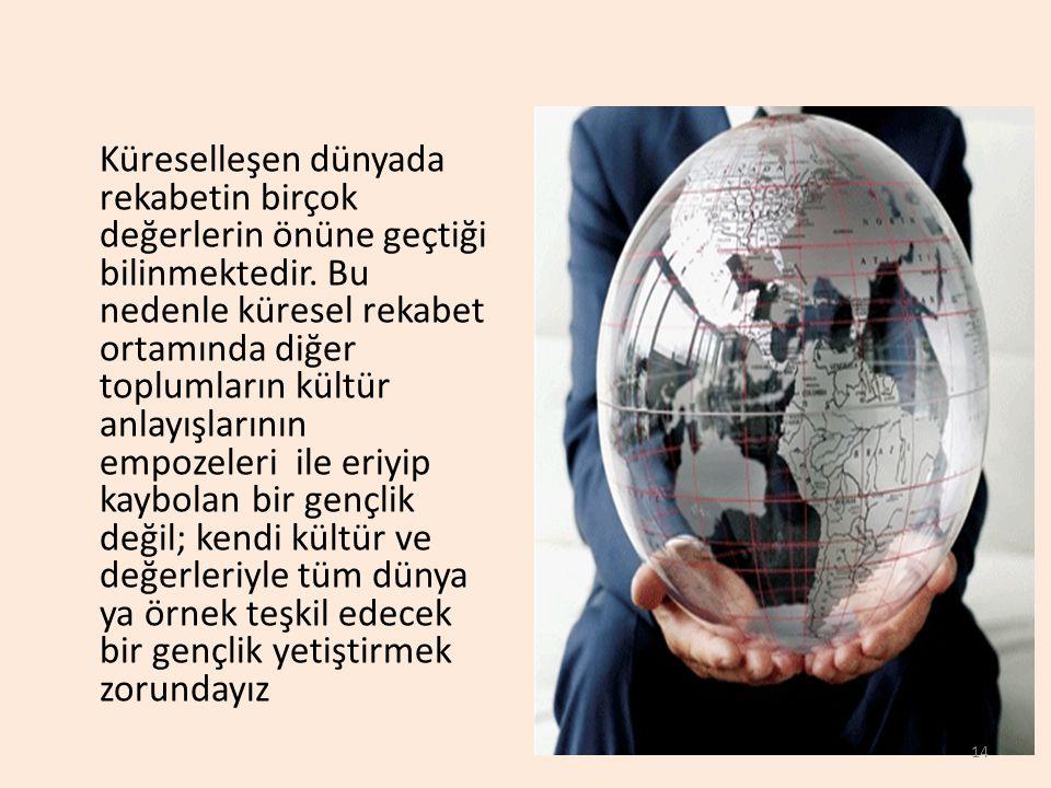 Küreselleşen dünyada rekabetin birçok değerlerin önüne geçtiği bilinmektedir.