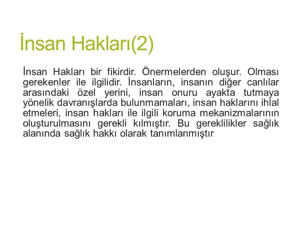 İnsan Hakları(2)