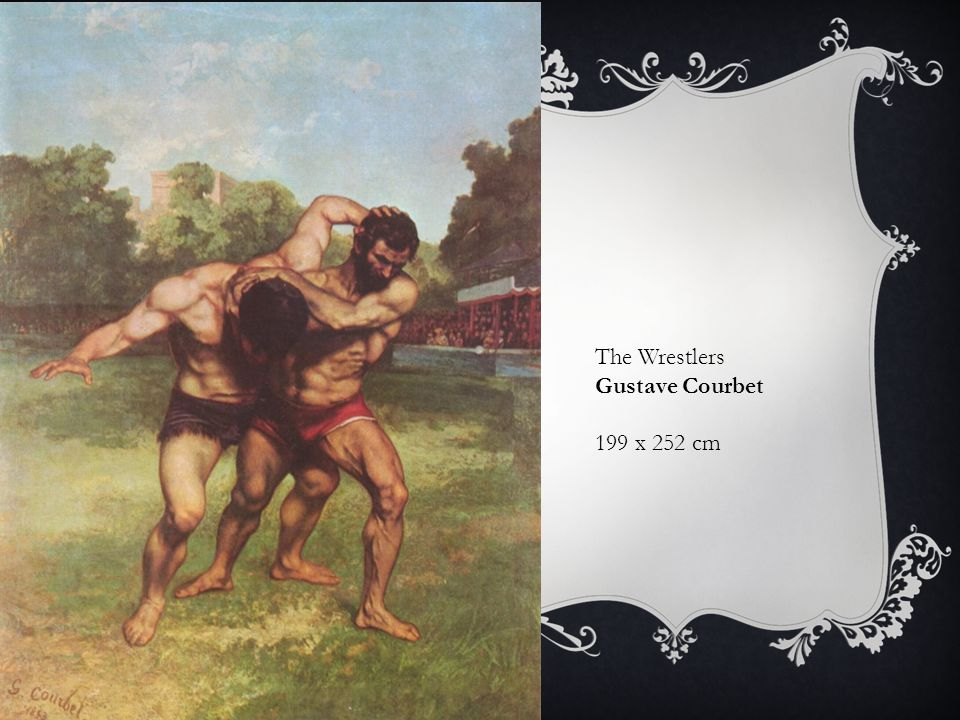 The Wrestlers Gustave Courbet 199 x 252 cm