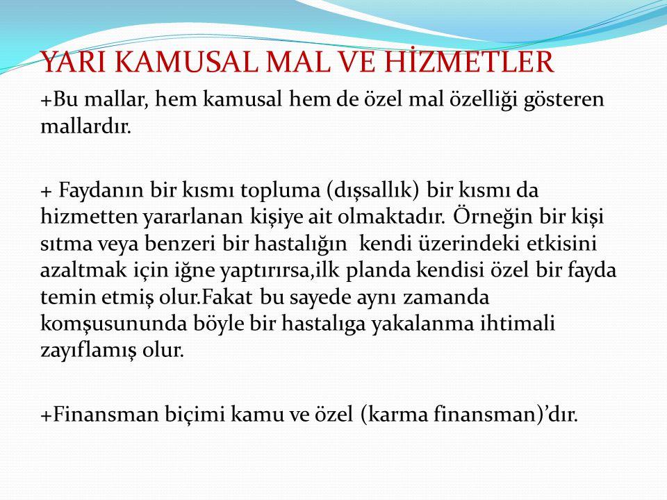 YARI KAMUSAL MAL VE HİZMETLER