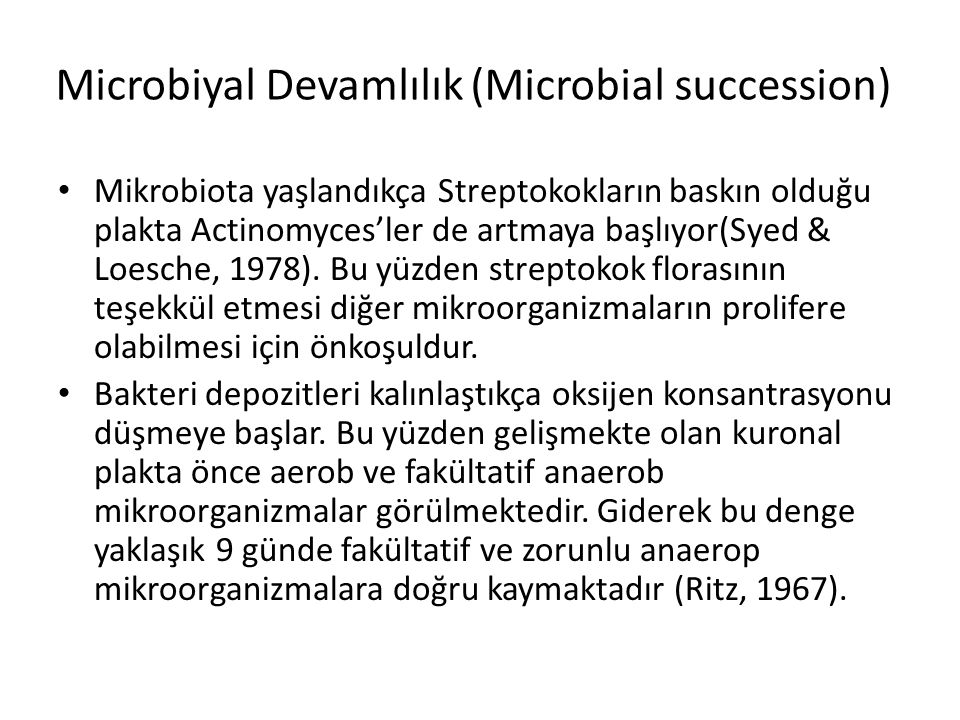 Microbiyal Devamlılık (Microbial succession)