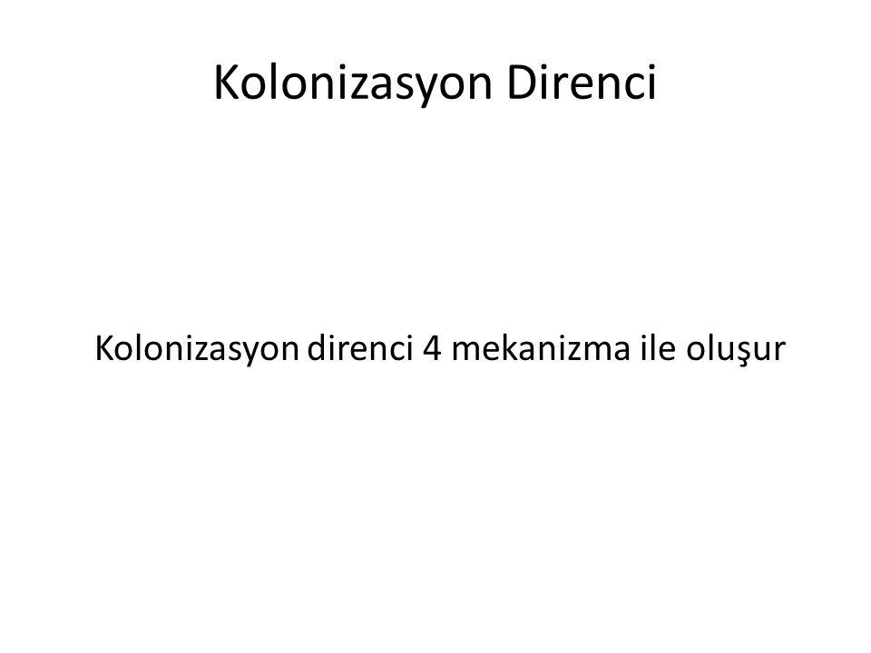 Kolonizasyon direnci 4 mekanizma ile oluşur