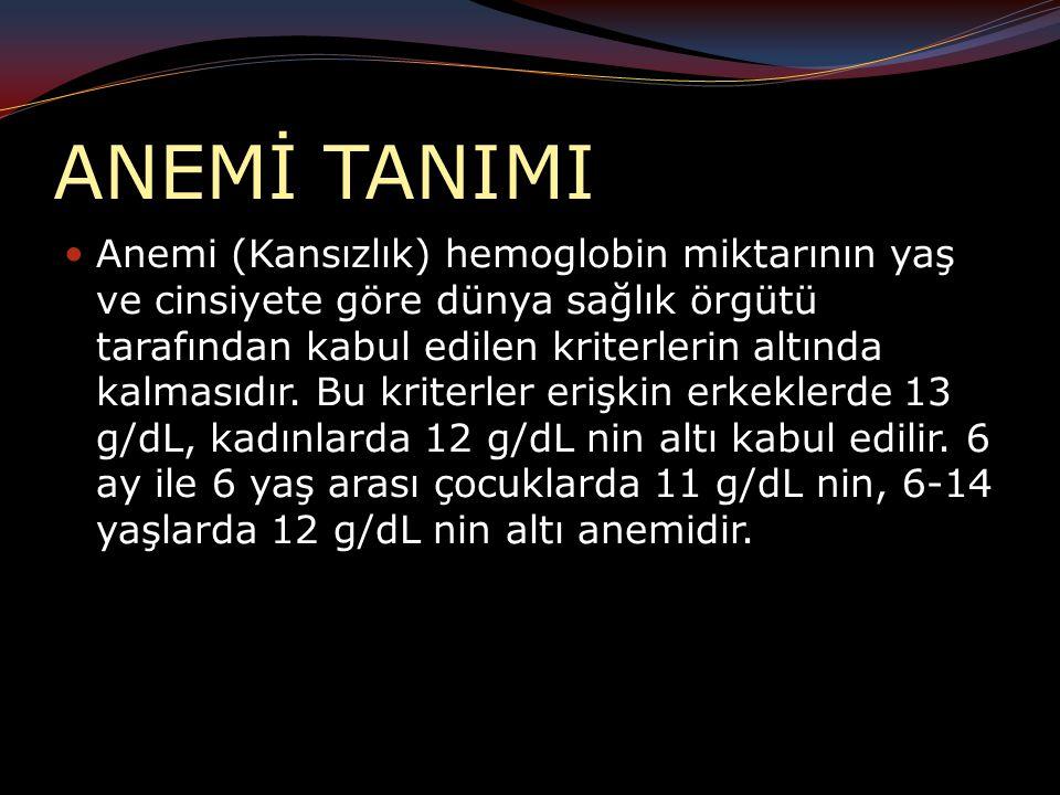 ANEMİ TANIMI