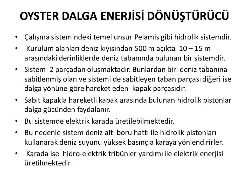 OYSTER DALGA ENERJİSİ DÖNÜŞTÜRÜCÜ