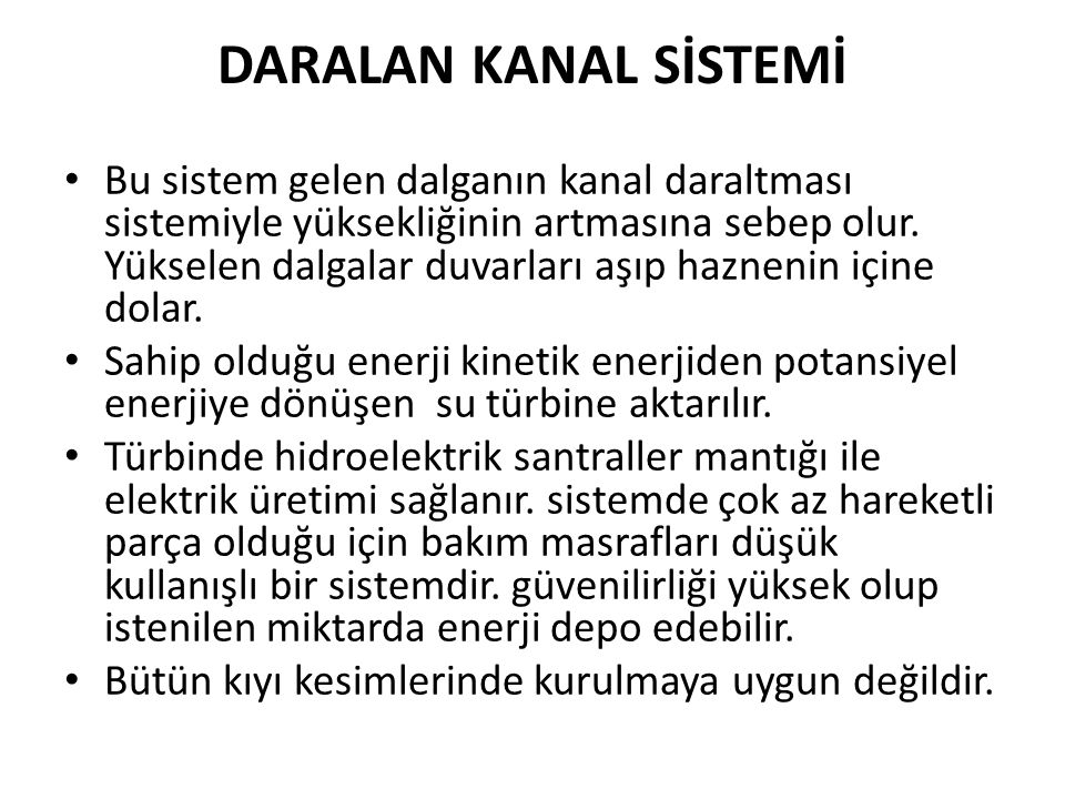 DARALAN KANAL SİSTEMİ