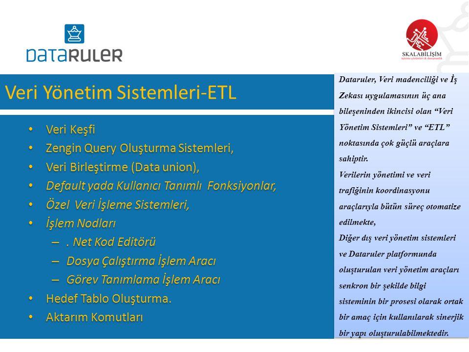 Veri Yönetim Sistemleri-ETL