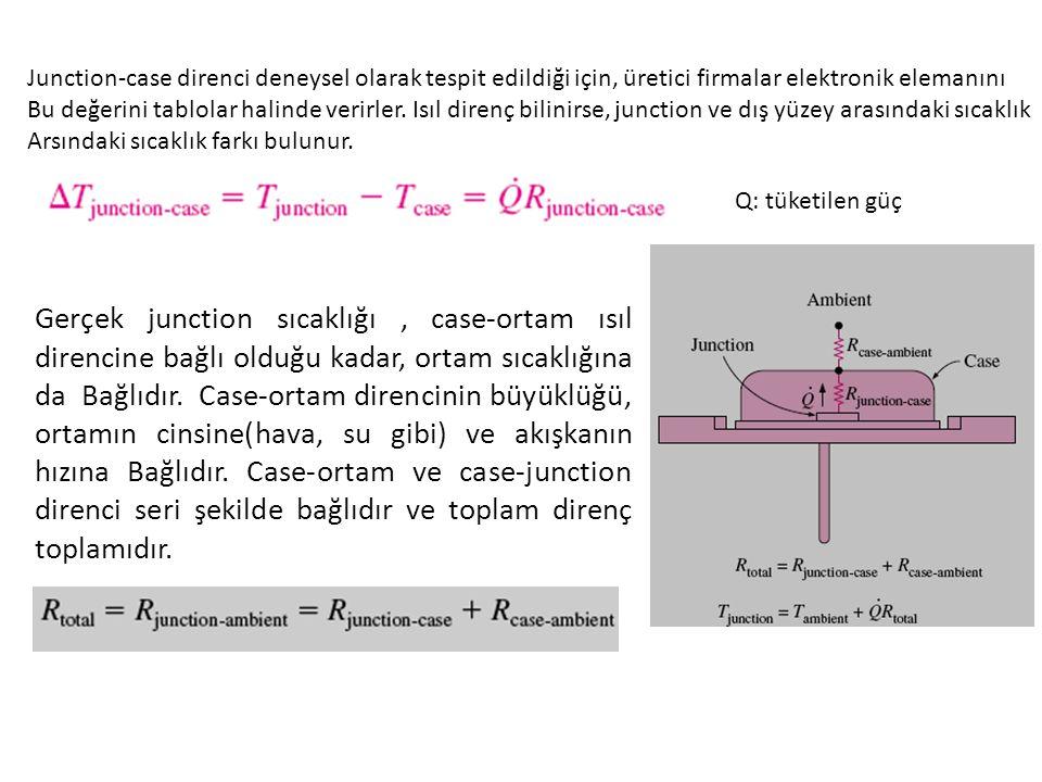 Junction-case direnci deneysel olarak tespit edildiği için, üretici firmalar elektronik elemanını