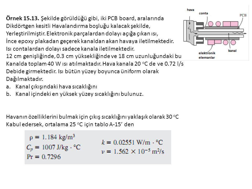Örnek 15.13. Şekilde görüldüğü gibi, iki PCB board, aralarında