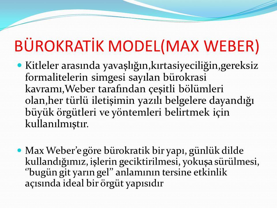 BÜROKRATİK MODEL(MAX WEBER)