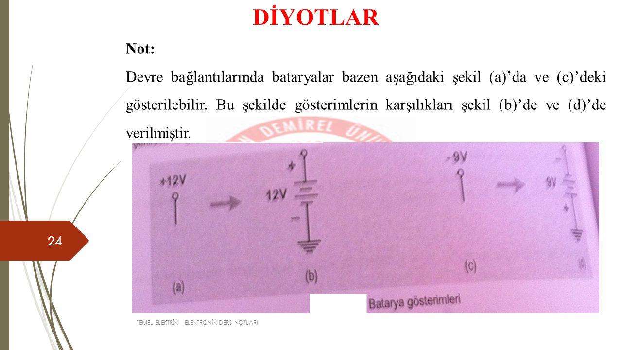 DİYOTLAR Not: