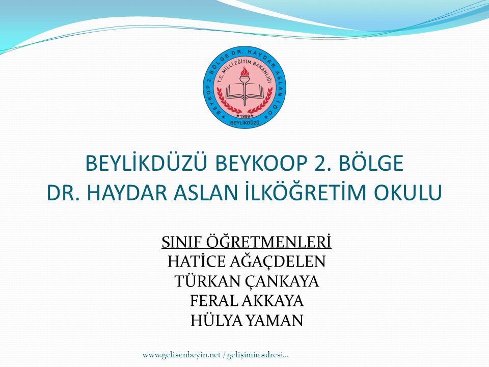BEYLİKDÜZÜ BEYKOOP 2. BÖLGE DR. HAYDAR ASLAN İLKÖĞRETİM OKULU