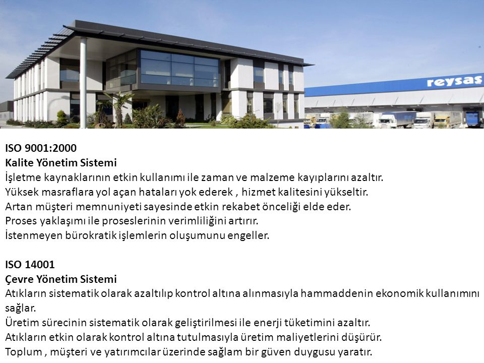 ISO 9001:2000 Kalite Yönetim Sistemi