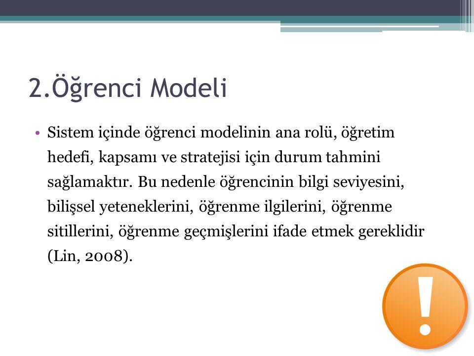 2.Öğrenci Modeli