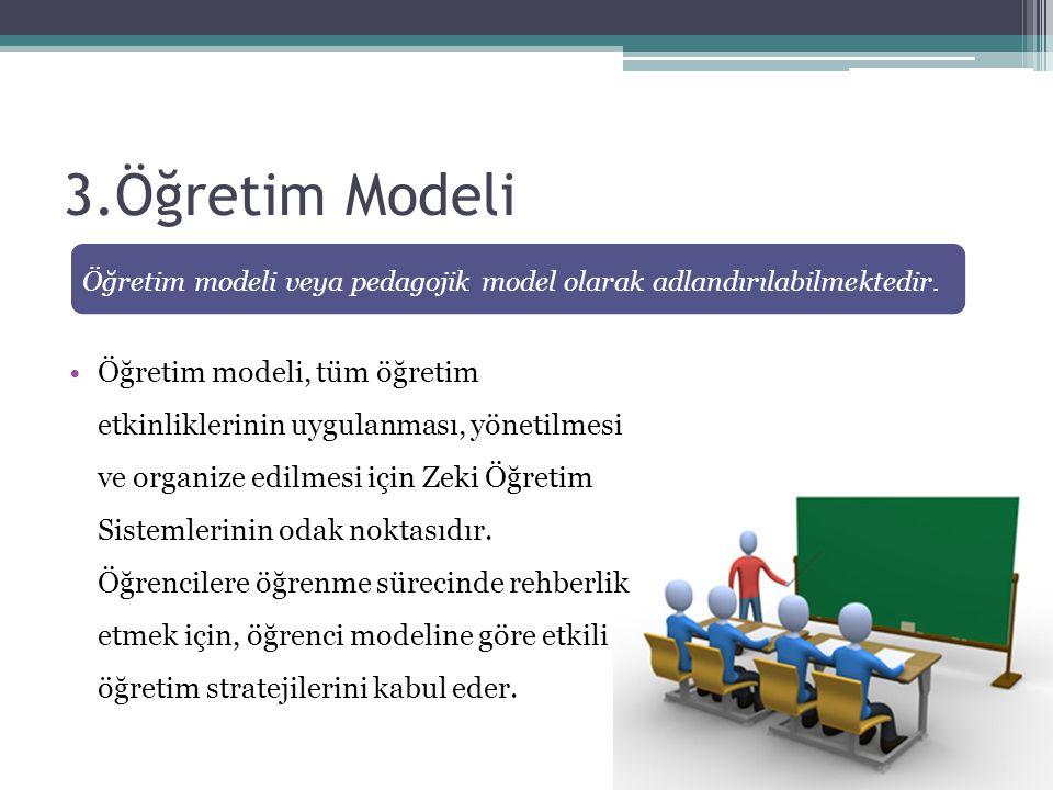 3.Öğretim Modeli Öğretim modeli veya pedagojik model olarak adlandırılabilmektedir.