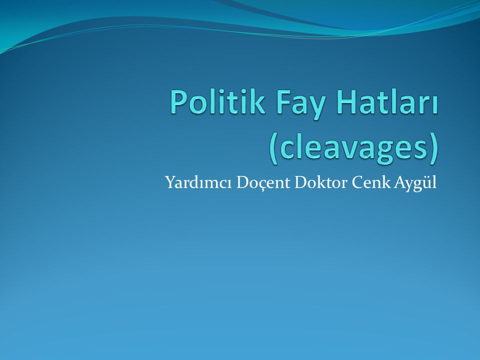 Politik Fay Hatları (cleavages)