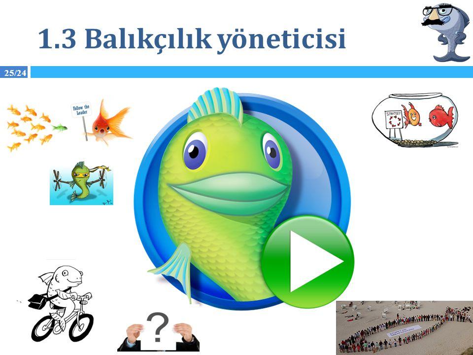 1.3 Balıkçılık yöneticisi